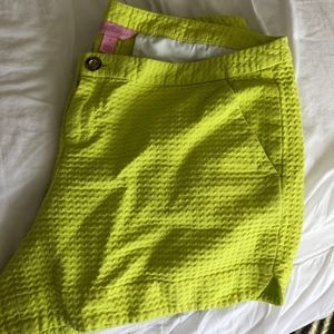 Lilly Pulitzer Lime Green/Yellow Shorts size 8